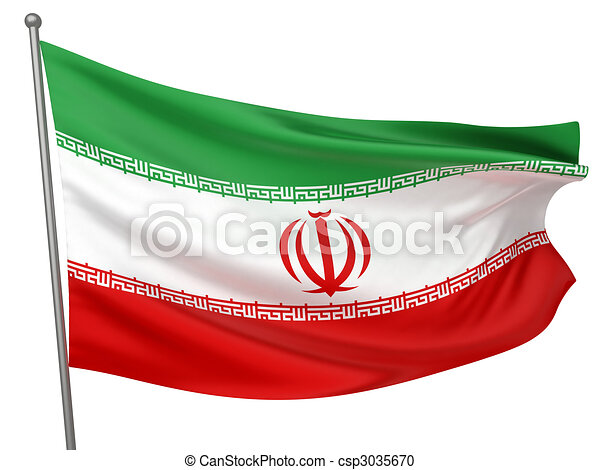 Iran National Flag - csp3035670