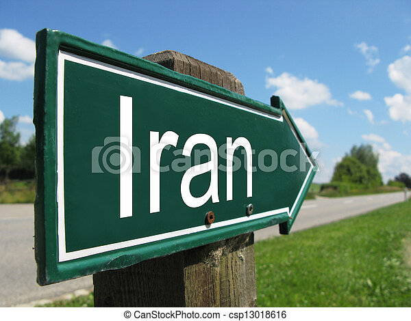 IRAN road sign - csp13018616