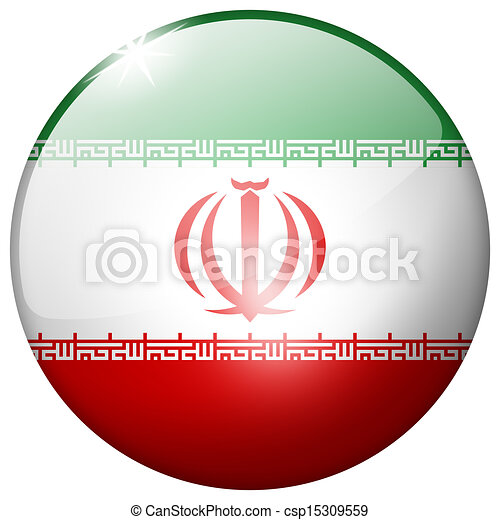 Iran Round Glass Button - csp15309559