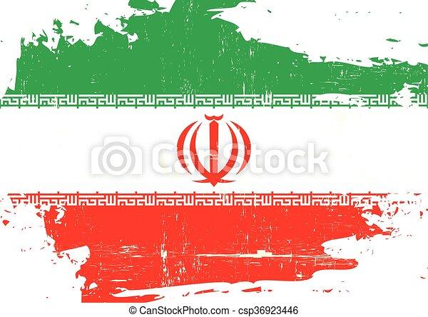 Iran scratched Flag - csp36923446