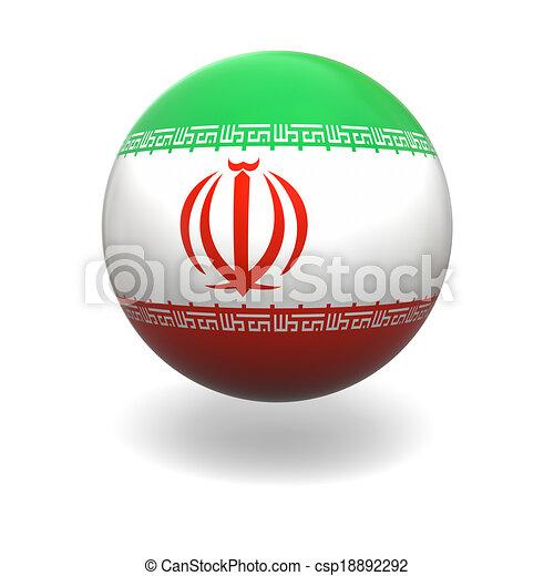 Iranian flag - csp18892292