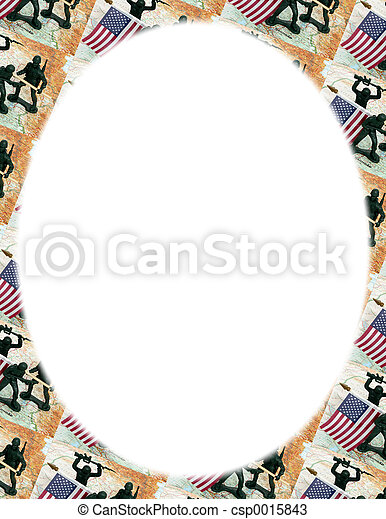 Iraq Map Frame Oval - csp0015843