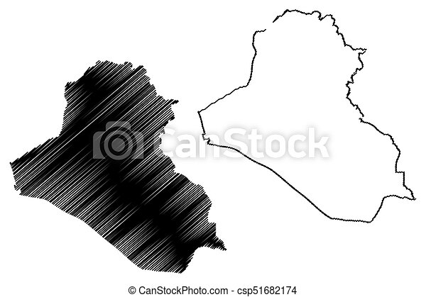 Iraq map vector illustration scribble sketch irak vectors