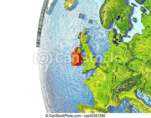 Ireland in red - csp43391380