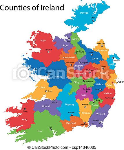 Ireland map - csp14346085