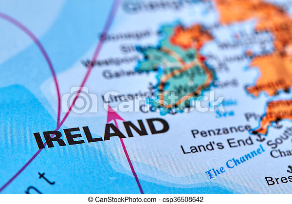 Country Map Of Ireland.Ireland On The Map Ireland Country In Europe On The World Map