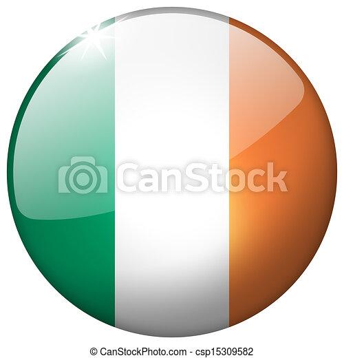 Ireland Round Glass Button - csp15309582