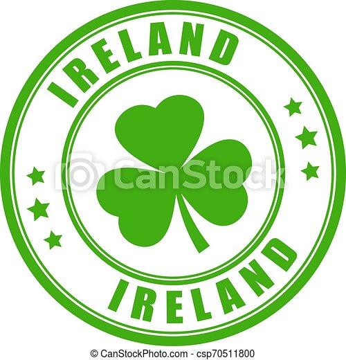 Ireland round stamp - csp70511800