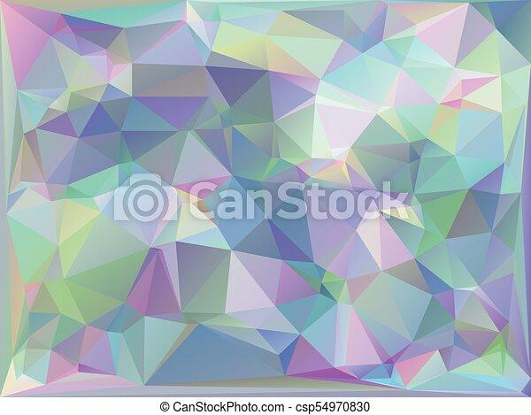 Iridescent Geometric Background - csp54970830