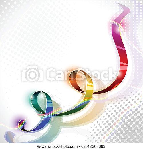 iridescent ribbon - csp12303863