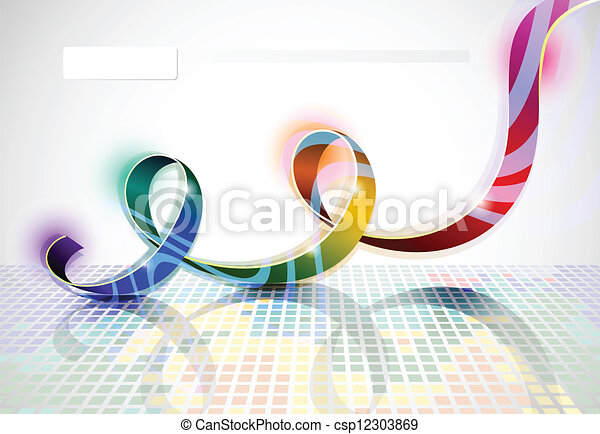 iridescent ribbon - csp12303869