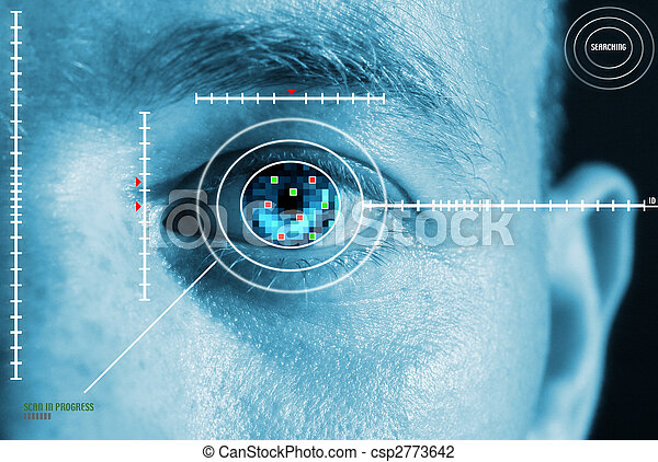 iris scan security - csp2773642