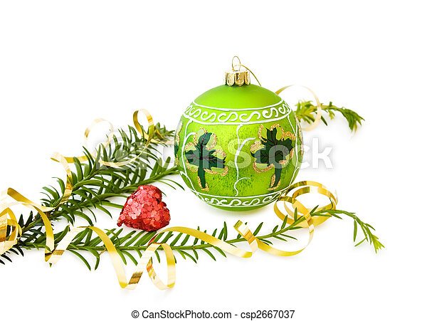 Irish Christmas.Irish Christmas With Green Bauble