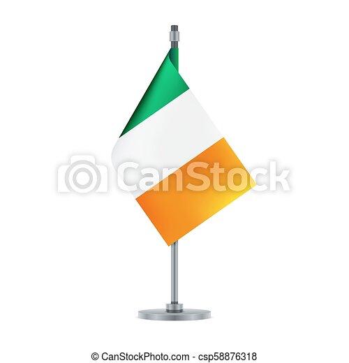 Irish flag, flat layout, vector illustration - csp58876318