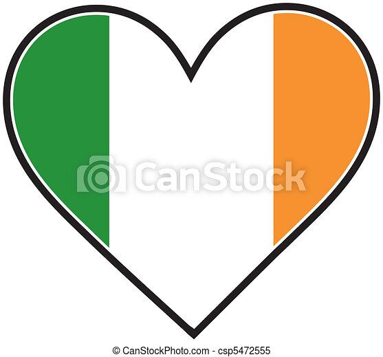Irish Heart Flag - csp5472555
