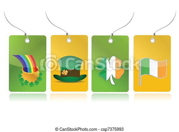 irish set of tags illustration - csp7375993