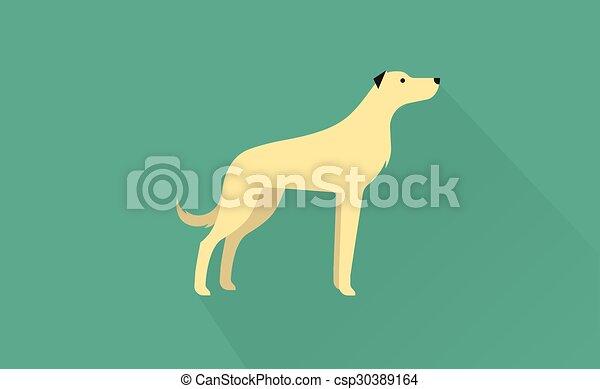 irish wolfhound icon - csp30389164