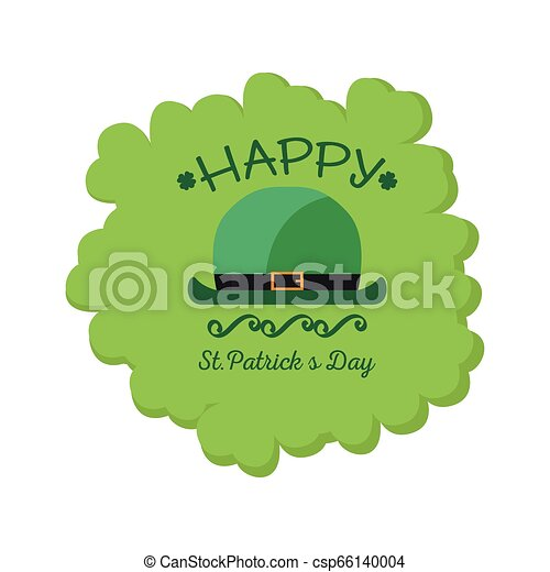 El sello de Patrick Day con piernas de elfo irlandés - csp66140004