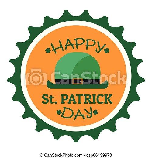 El sello de Patrick Day con piernas de elfo irlandés - csp66139978