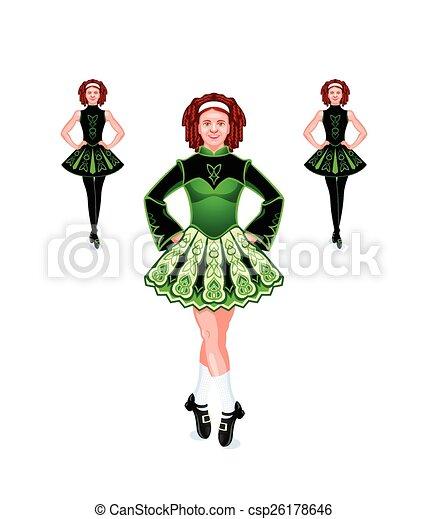 irlandese, ballerini, trio - csp26178646