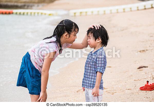 irmã, irmão - csp39520135