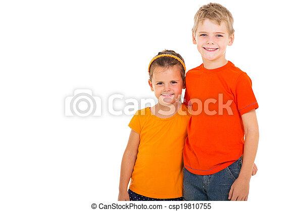 irmã, irmão, feliz - csp19810755