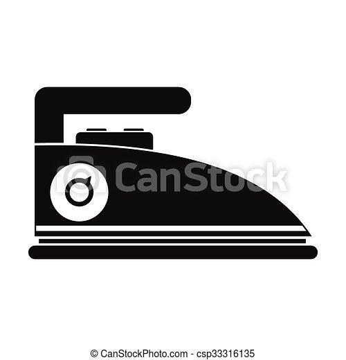Iron black simple icon - csp33316135