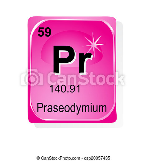 Iron Chemical Element With Atomic Number Symbol And Weight