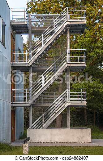Iron Emergency Escape Stairs   Csp24882407