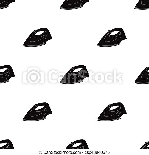 Iron For Ironing Dry Cleaning Single Icon In Black Style Vector