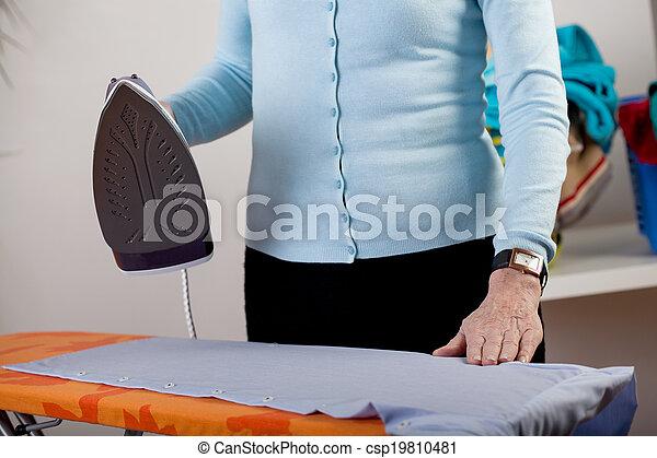 Ironing clothes closeup - csp19810481