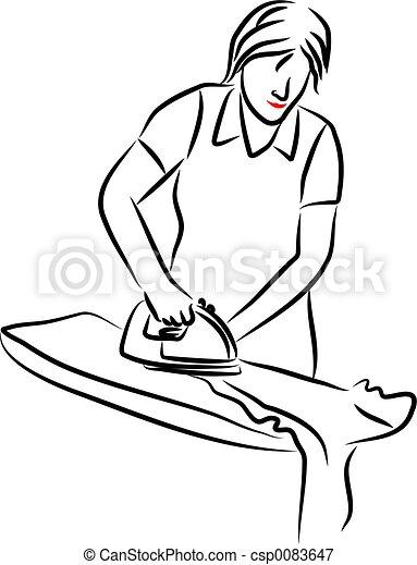 ironing, dame - csp0083647