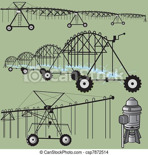 irrigação, arte, clip - csp7872514