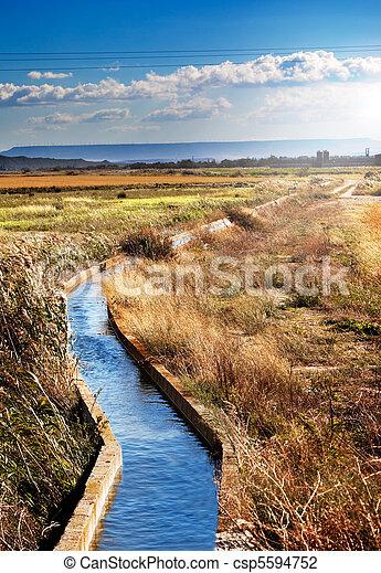 irrigation  channel  - csp5594752