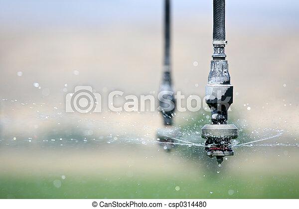 irrigation close up - csp0314480