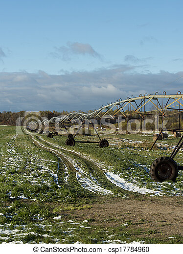 Irrigation on a hay field - csp17784960