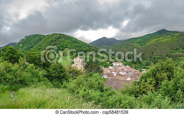 Isaba village top view - csp58481539