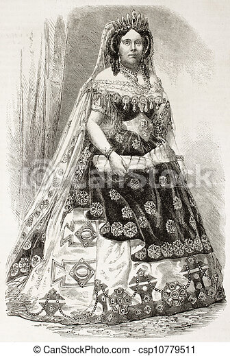 Isabella II Queen of Spain old engraved portrait. Created by Janet-Lange published on Lu0027Illustration Journal Universel Paris 1863  sc 1 st  Can Stock Photo & Isabella ii of spain. Isabella ii queen of spain old engraved ...