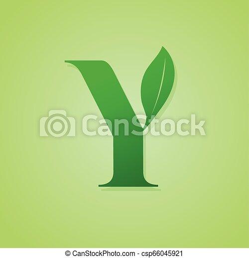 iscrizione, ecologia, natura, verde, vector., logotipo - csp66045921