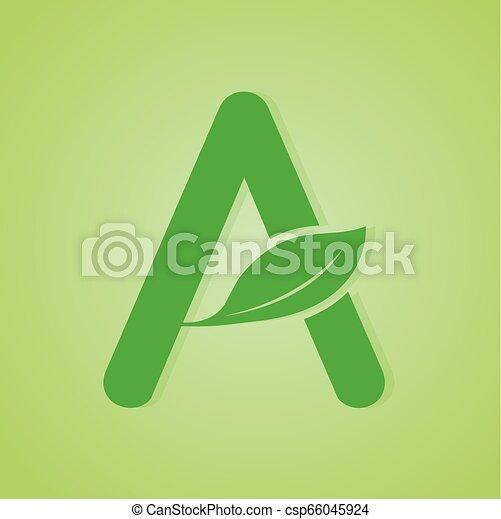 iscrizione, ecologia, natura, verde, vector., logotipo - csp66045924