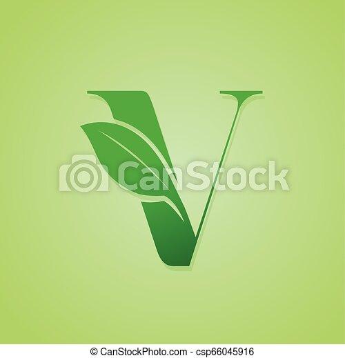 iscrizione, ecologia, natura, verde, vector., logotipo - csp66045916