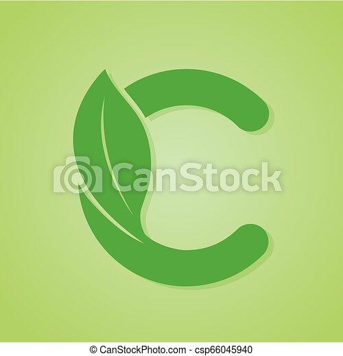 iscrizione, ecologia, natura, verde, vector., logotipo - csp66045940