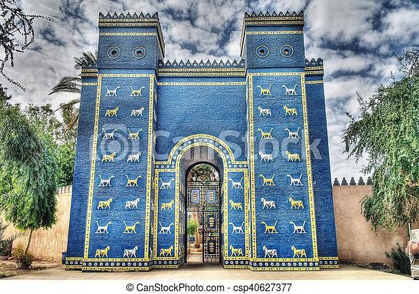 Ishtar gates in Babylon - csp40627377