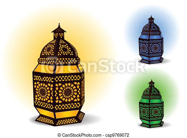 Lámpara islámica para ramadan / eid - csp9769072