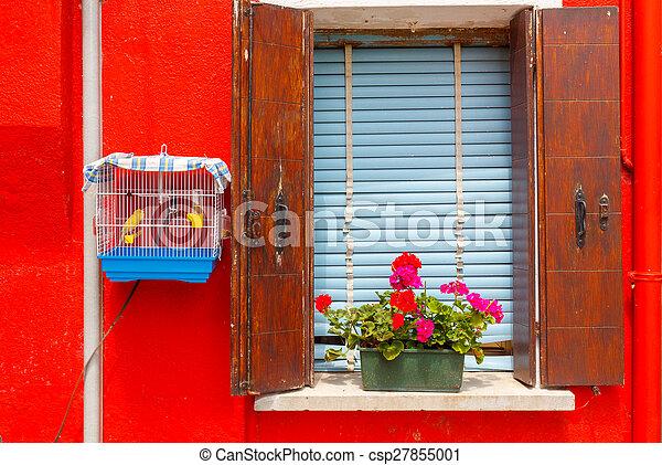 La isla de Burano. Italia. - csp27855001