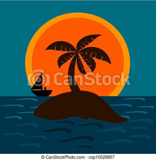 Isla en el mar - csp10026807