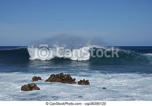 isla, pascua, costa - csp36390120