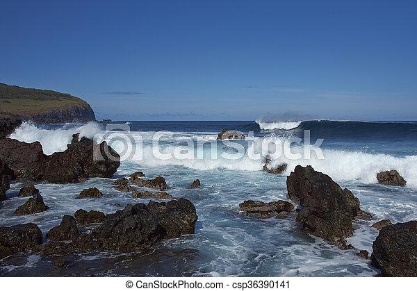 isla, pascua, costa - csp36390141