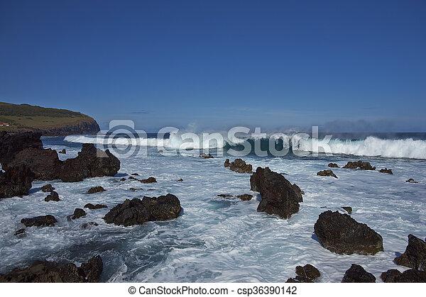 isla, pascua, costa - csp36390142