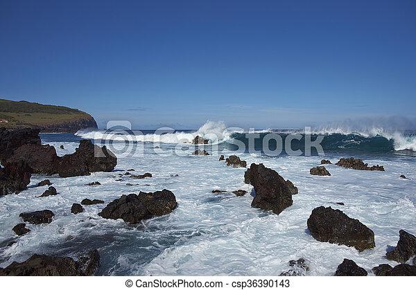 isla, pascua, costa - csp36390143